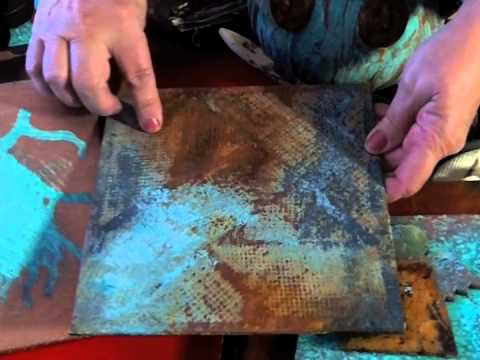 Rust patina style youtube for How to make metallic paint