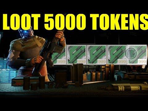 Destiny 2 Loot from 5000 Gunsmith Material Tokens (Season 2 New Masterwork Weapons)