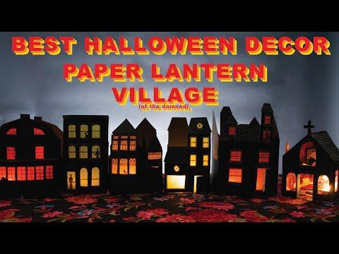 PAPER VILLAGE : THE BEST HALLOWEEN DECOR 2018 - Flat Packed Halloween DIY Village!