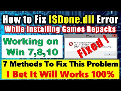 How To Fix ISDone.dll Error 100% Solved ✔✔✔