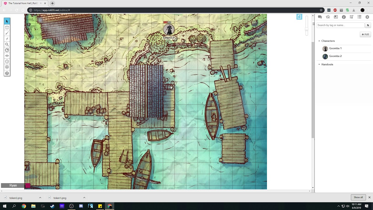 Roll20 GM Tutorial #2 Tokens, Map Markers and Bestiary