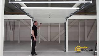 Montage instructie sectionale garagedeur TS100