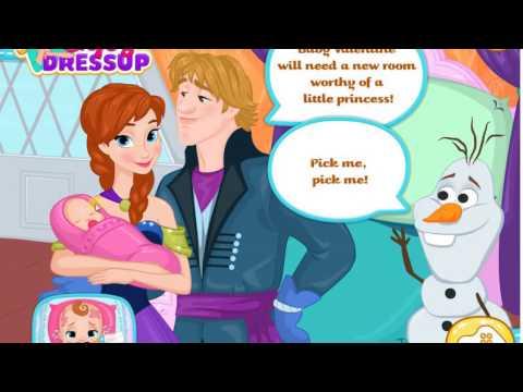 Disney Frozen Games - Annas Newborn House Makeover - Baby Games for Kids