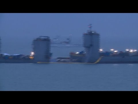 South Korea raises sunken Sewol ferry: Yonhap
