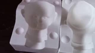 Moldes de gesso pra fazer bonecas de porcelana