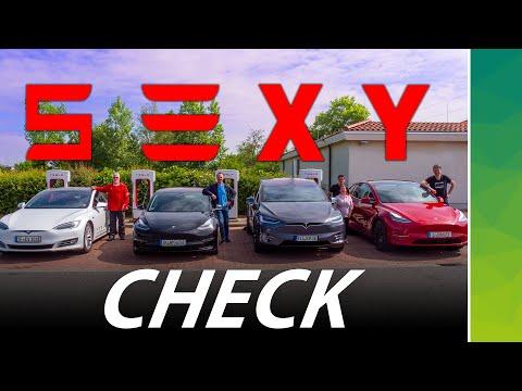 S3XY TESLA Fahrt | Vergleich Model Y mit Model S, 3, X
