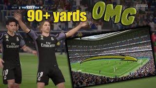 90 Yard Goal!!! Longest FIFA goal ever??? | FIFA 17