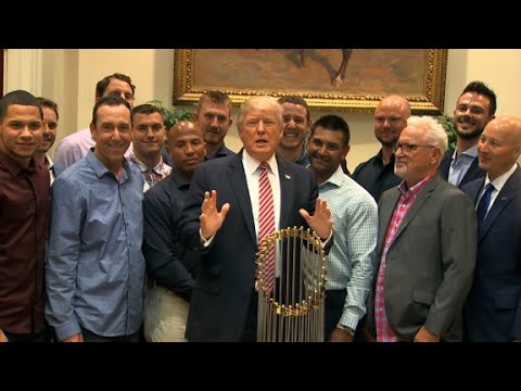 Thumbnail: Trump touts health care surprise at Cubs event