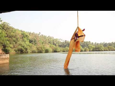 Sky Dance Aerial Silk Dance on a Bridge