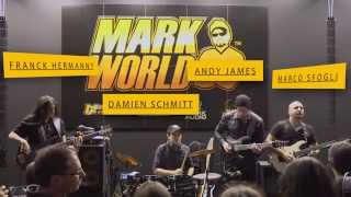 Marco Sfogli, Andy James, Franck Hermanny and Damien Schmitt at Mark World booth - Musikmesse 2014