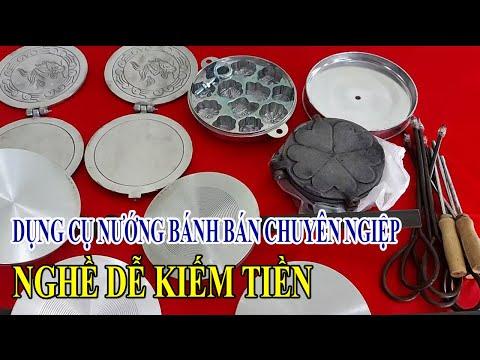 trọn bộ dụng cụ nghề nướng bánh bông lan,bánh kẹp cuốn bánh tàn ong  truyền thống kiếm tiền thu nhập