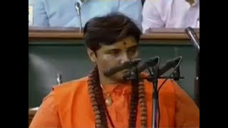 Ruckus during oath taking of Pragya Singh Thakur as she called herself & 39 Sadhvi& 39