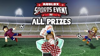 Roblox Sports Event┆All Prizes