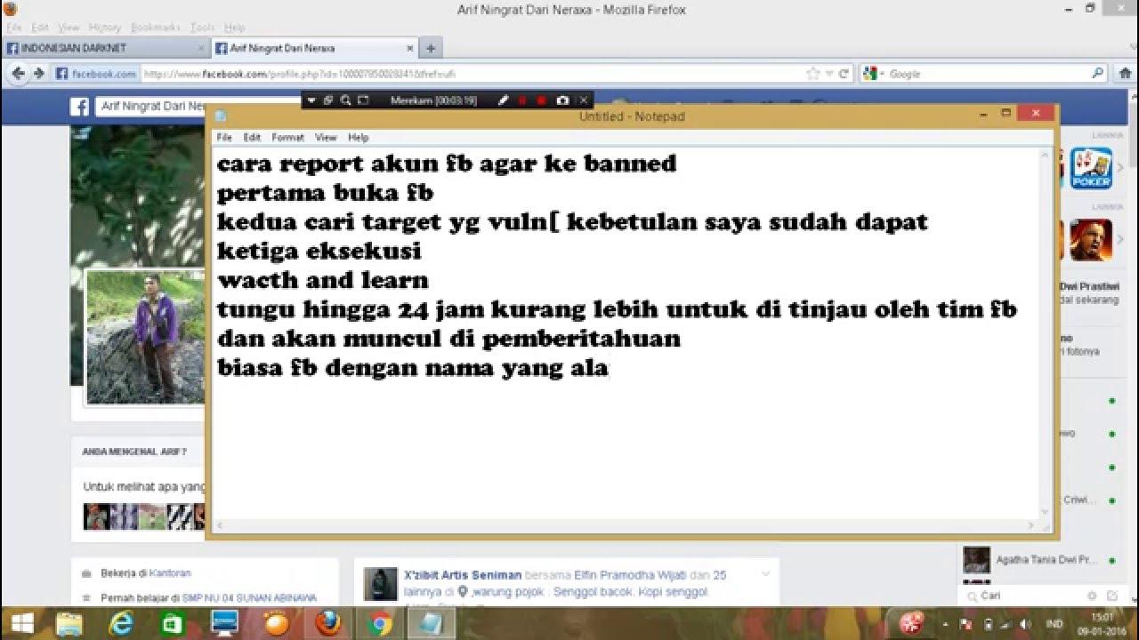 Cara Report Lapor Kan Akun Facebook Agar Di Banned 2016 Youtube