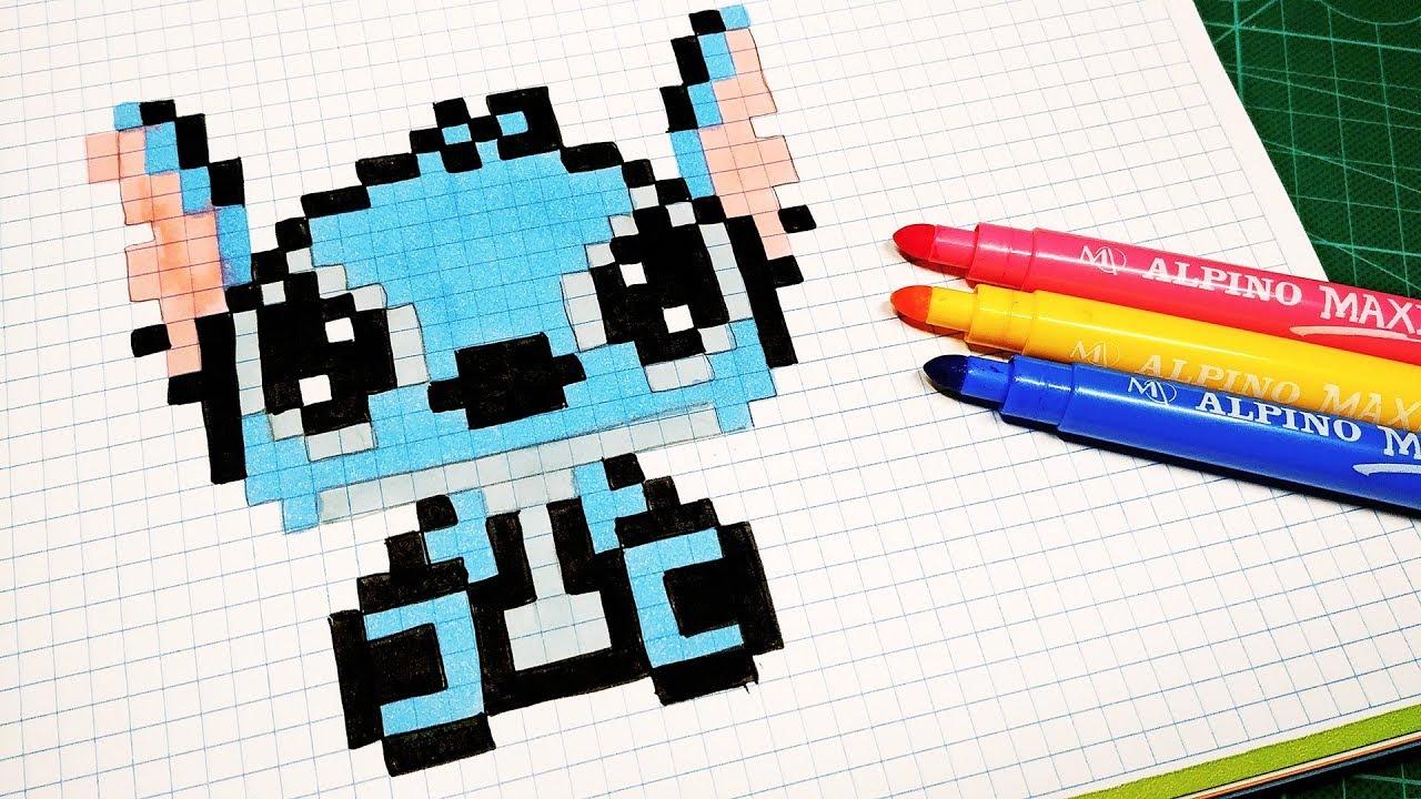 Handmade Pixel Art How To Draw Stitch Pixelart Youtube