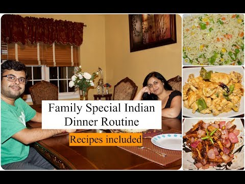 Indian Family Dinner Routine With Full Recipes | Indian(NRI) Life | Simple Living wise Thinking