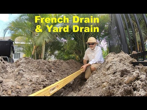 Adding A Yard Drain and French Drain Part 1