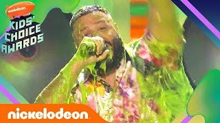 DJ Khaled Gets Soaked In Slime While Closing Out The 2019 Kids Choice Awards