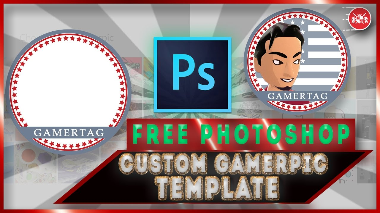 xbox one free custom gamerpic template download youtube