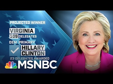 Clinton, Sanders, Trump Win Early Super Tuesday States | MSNBC