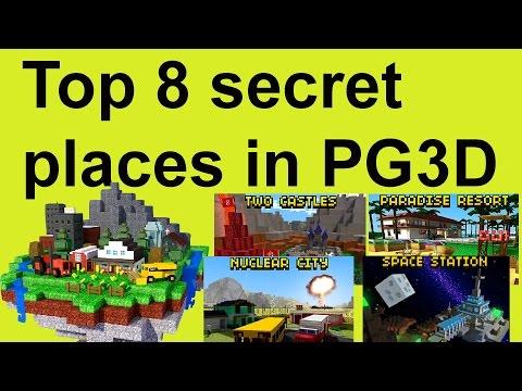 Pixel Gun 3D - 8 secret places/passages in PG3D