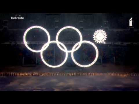 Sochi olympics opening ceremony olympic rings fail from Putins 5th ring camera footage