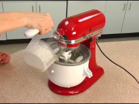 Making Ice Cream Using the Ice Cream Maker Attachment - YouTube on