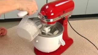 Making Ice Cream Using the Ice Cream Maker Attachment