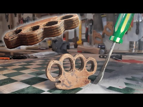 How To Make Leather Brass Knuckles (Legal)