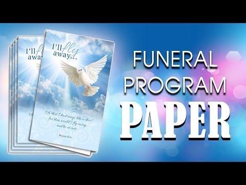 Funeral Program Paper