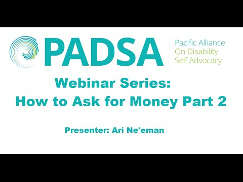 Webinar: How to Ask for Money Creating a Development Strategy Part 2 (3/04/14)