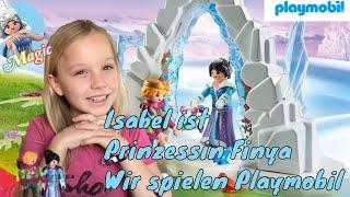 Isi ist PRINZESSIN  Finya ❄️ Wir spielen PLAYMOBIL 💙 Liebe im Kristallpalast ⛄️ Kleine Familienwelt