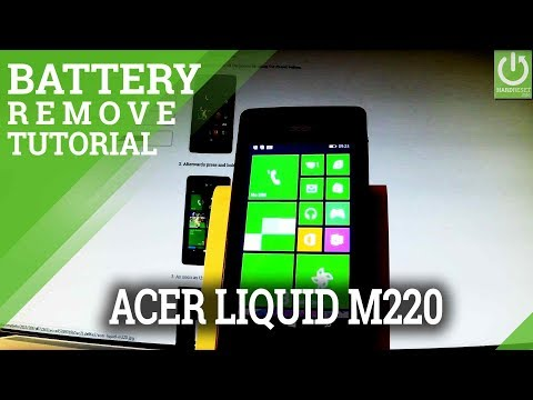 ACER Liquid M220 Remove Battery / Open Back Cover / Soft Reset