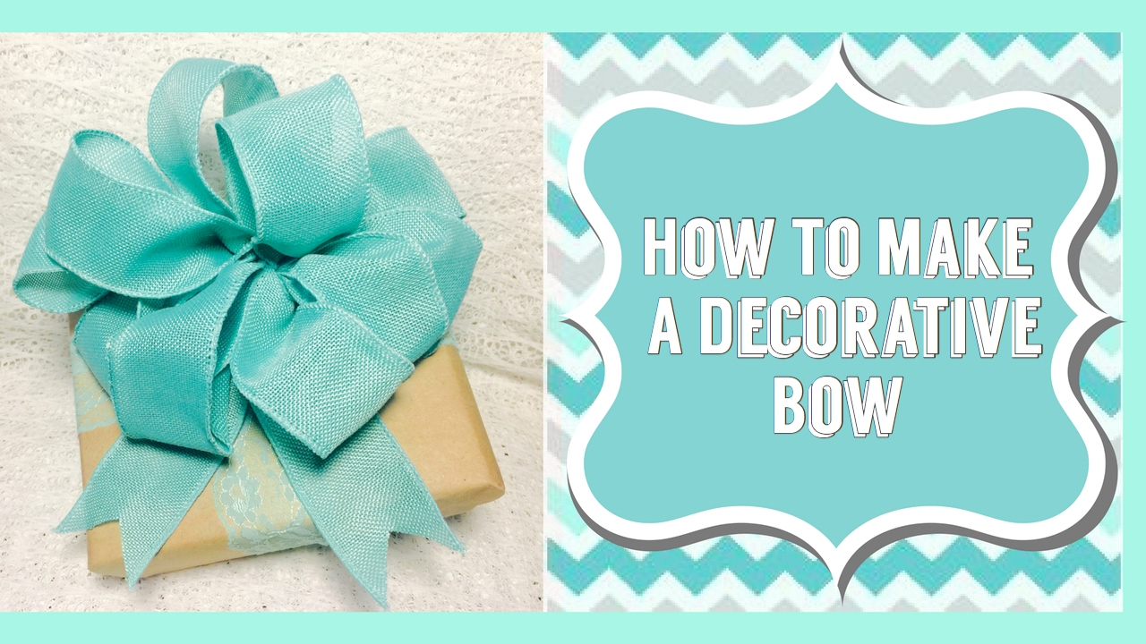 Make A Bow For A Present, Vase, Wreath or Gift Basket| Add To Any ...