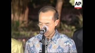 WRAP FMs arrive for ASEAN; Myanmar, Indonesian FMs arrive; Yeo bites
