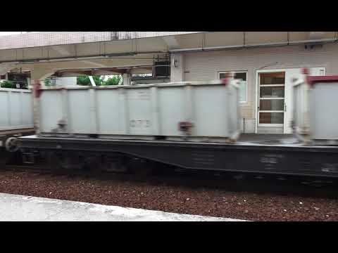 台鐵 新城站 中鋼貨列 列車通過