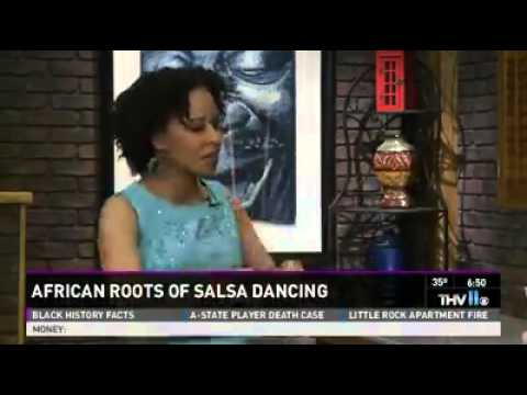 Leah Patterson Talks about the African Roots of Salsa on KTHV Channel 11