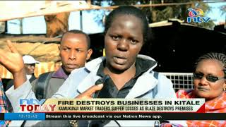 Kamukunji market traders suffer losses as blaze destroys premises
