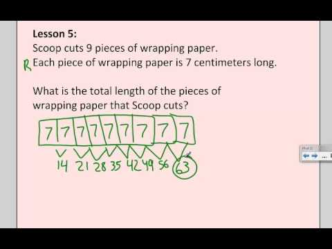 3rd Grade Multiplication Word Problem With A Tape Diagram Youtube