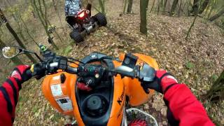 Girl + Quad bike / Atv enduro in woods / Jazda quadem okiem kobiety