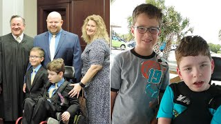 Family Adopts 11-Year-Old Boy With Cerebral Palsy & Brother: 'I Kept Praying'
