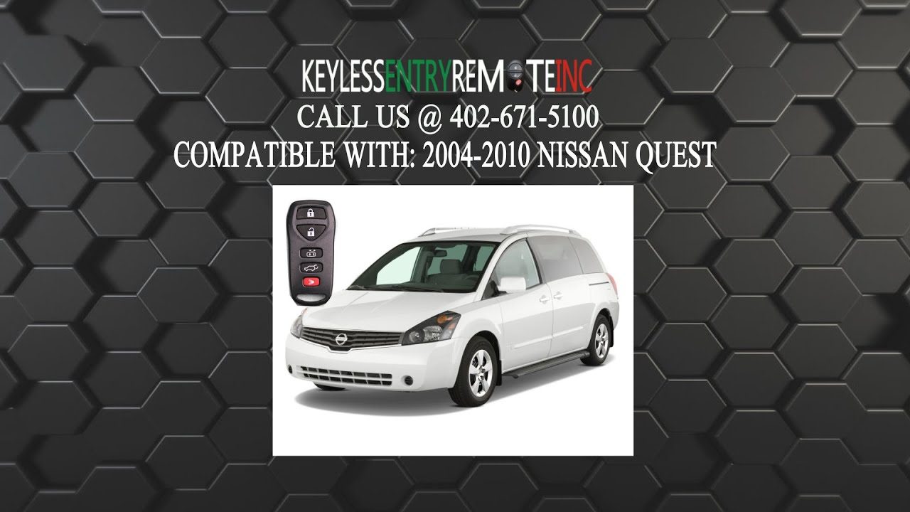 How To Replace Nissan Quest Key Fob Battery 2004 2005 2006 2007 2008
