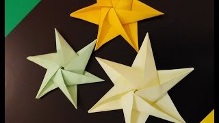 Origami Star. Ideas for Christmas star. Paper star