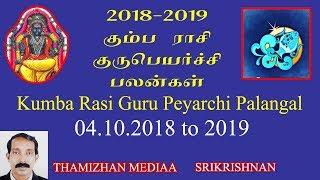 Kumbam Rasi Gurupeyarchi palangal 2018-2019 | கும்பம் ராசி குருபெயர்ச்சி பலன்கள் 2018-2019