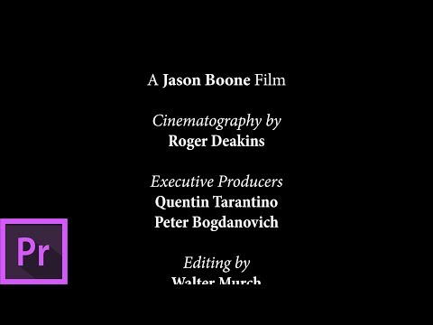 Create END CREDITS in Premiere Pro 2018