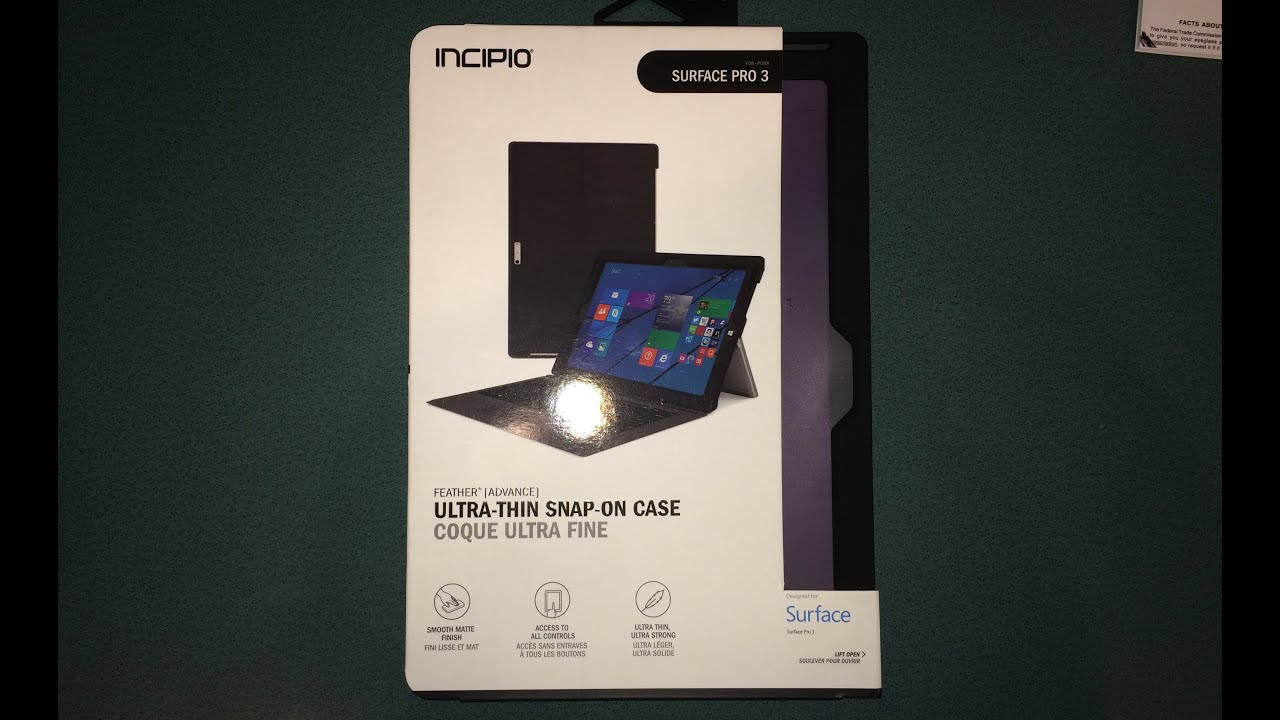detailed look 1a812 ca11a Incipio Feather Advance Cover Review for Surface Pro 3