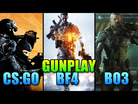 FPS Gunplay Comparison - Battlefield vs Call Of Duty vs Counter Strike