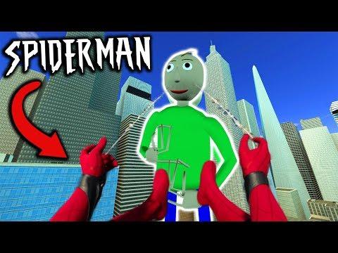 Spider-Man Vs GIANT BALDI In New York City... (Spiderman In Baldi's Basics)