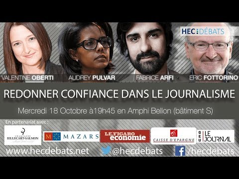 A. Pulvar, V. Oberti, E. Fottorino et F. Arfi à HEC Débats - Table ronde sur le journalisme