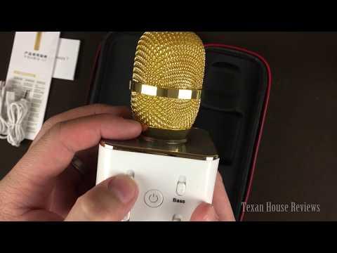 TopBest Portable Wireless Karaoke Microphone